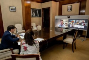 Reunión virtual junto a Kicillof y García con autoridades de la CEDU y empresarios de la Vivienda